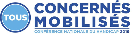 Logo Tous concernés tous mobilisés, conférence nationale du handicap 2019